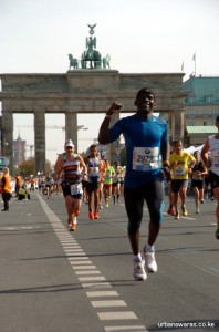 At Brandenburg Gate - Berlin Marathon