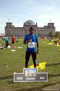 At Reichstag building - Berlin Marathon