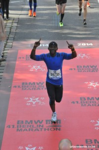 At finish line - Berlin Marathon