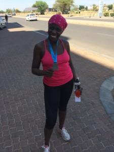 RUN medal in bostwana