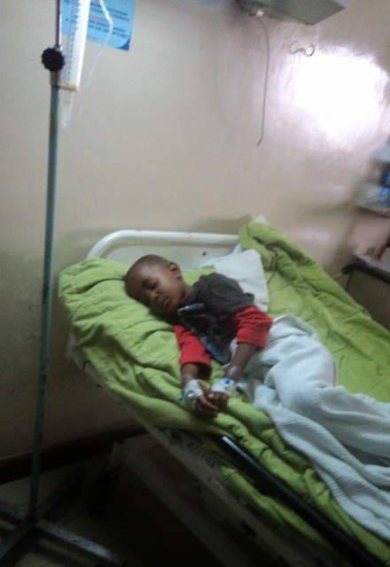 Terry Mutuku in hospital