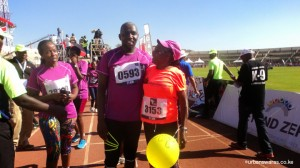 At the first ladys marathon 2015-Nduku with Murkomen