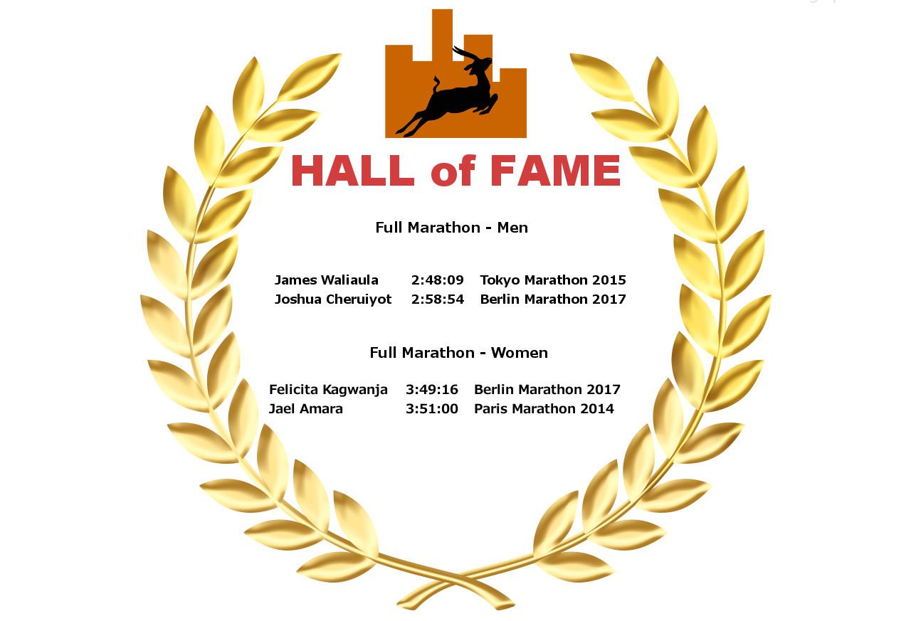 Hall of Fame - Full Marathon