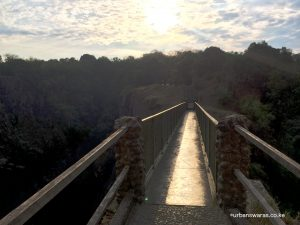 Footbridge at Victoria Falls
