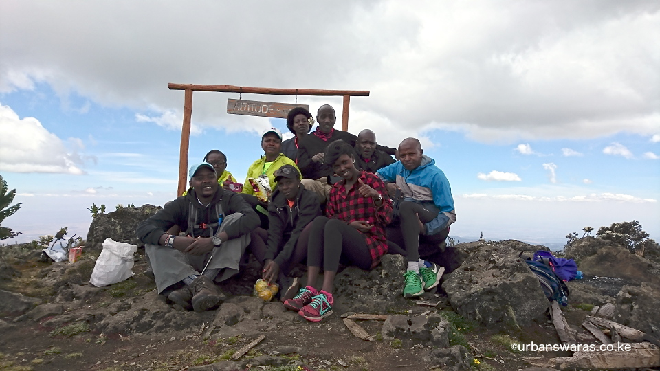 Swaras at Koitobos summit on Mt Elgon